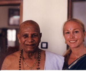 With Guruji at the opening of the new Shala in 2002